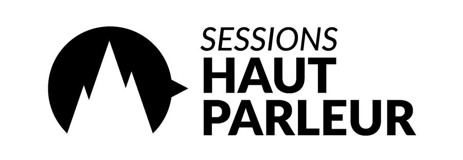 Logo des sessions haut parleur à l'Ombrière
