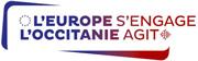 Logo : L'Europe s'engage l'Occitanie agit